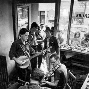 Ramblin' Jack Elliot at Block's Shop (from Sing Out Magazine)